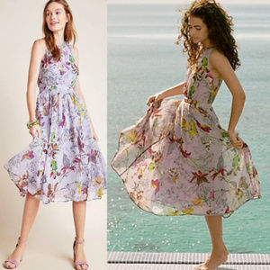 NWT ANTHROPOLOGIE Hermia Floral Fit & Flare Dress